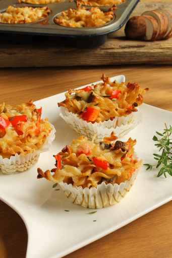 Low Carb Pasta Muffin wenig Kohlenhydrate