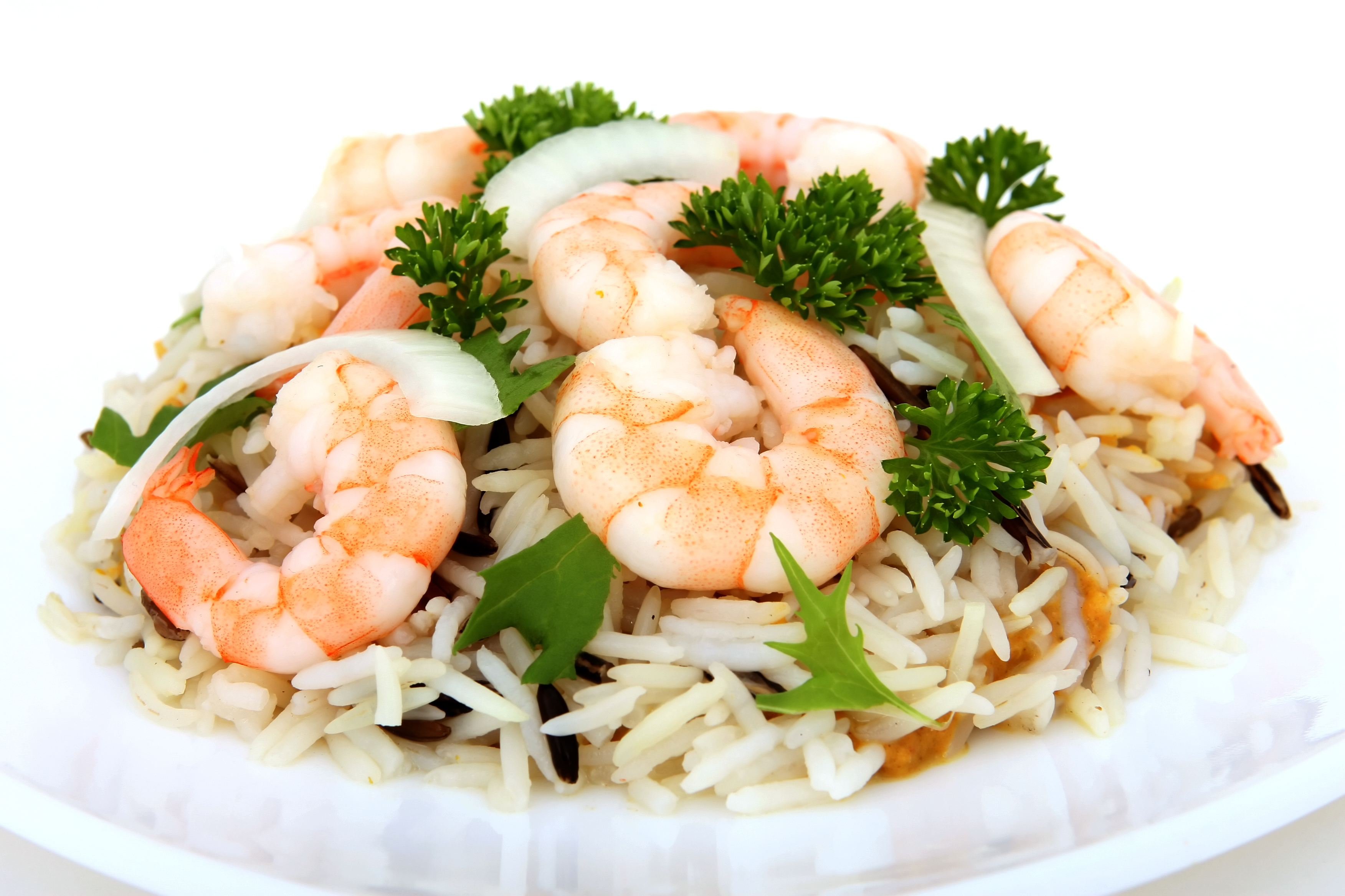 Low Carb Shrimps mit Reis