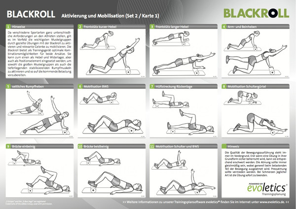 Blackroll Übungen: Workout und Mobilisation
