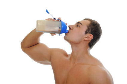 protein shake in the fitness shop