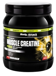 Body Attack Muscle Creatine - 500 g Dose - Body Attack Sports Nutrition®