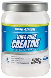 Body Attack 100% Pure Creatine 500 g - Body Attack Sports Nutrition®