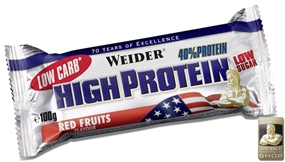 Weider Low Carb High Protein Bar - 100 g Riegel - WEIDER®