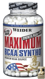 Maximum BCAA Syntho + PTK - 240 Caps - WEIDER®