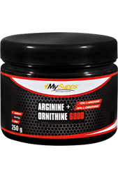 Arginine + Ornithine 6000 - 250 g Dose - My Supps