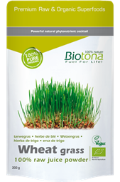 Wheat Grass 100% Raw Juice Powder 200 g Beutel - Biotona