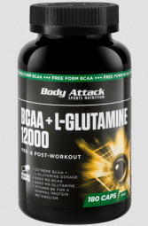 Body Attack BCAA + Glutamine 12000 - 180 Kapseln - Body Attack