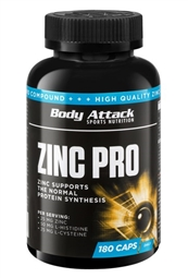 Body Attack Zinc Pro Caps - 180 Kapseln - Body Attack Sports Nutrition