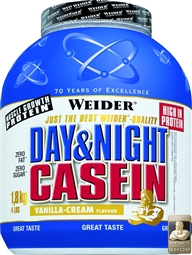 Weider Day & Night Casein - 1800 g Vanille - WEIDER