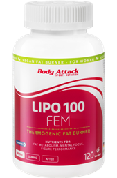 LIPO - 100 - FEM Fatburner - 120 Caps - Body Attack Sports Nutrition®