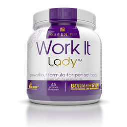 Queen Fit Work It Lady PreWorkout Formula - 337 g Orange - OLIMP® Sport Nutrition
