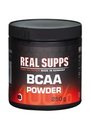 Real Supps 100% BCAA Powder 250 g Dose - REAL SUPPS