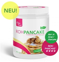 Roh Pancake Pulver - 21kcal pro Stück - 425g Dose - CleanFoods