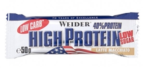 Weider Low Carb High Protein Bar 100g Latte Macchi - WEIDER®