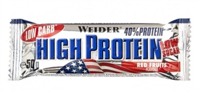 Weider Low Carb High Protein Bar - 50 g Rote Früch - WEIDER®