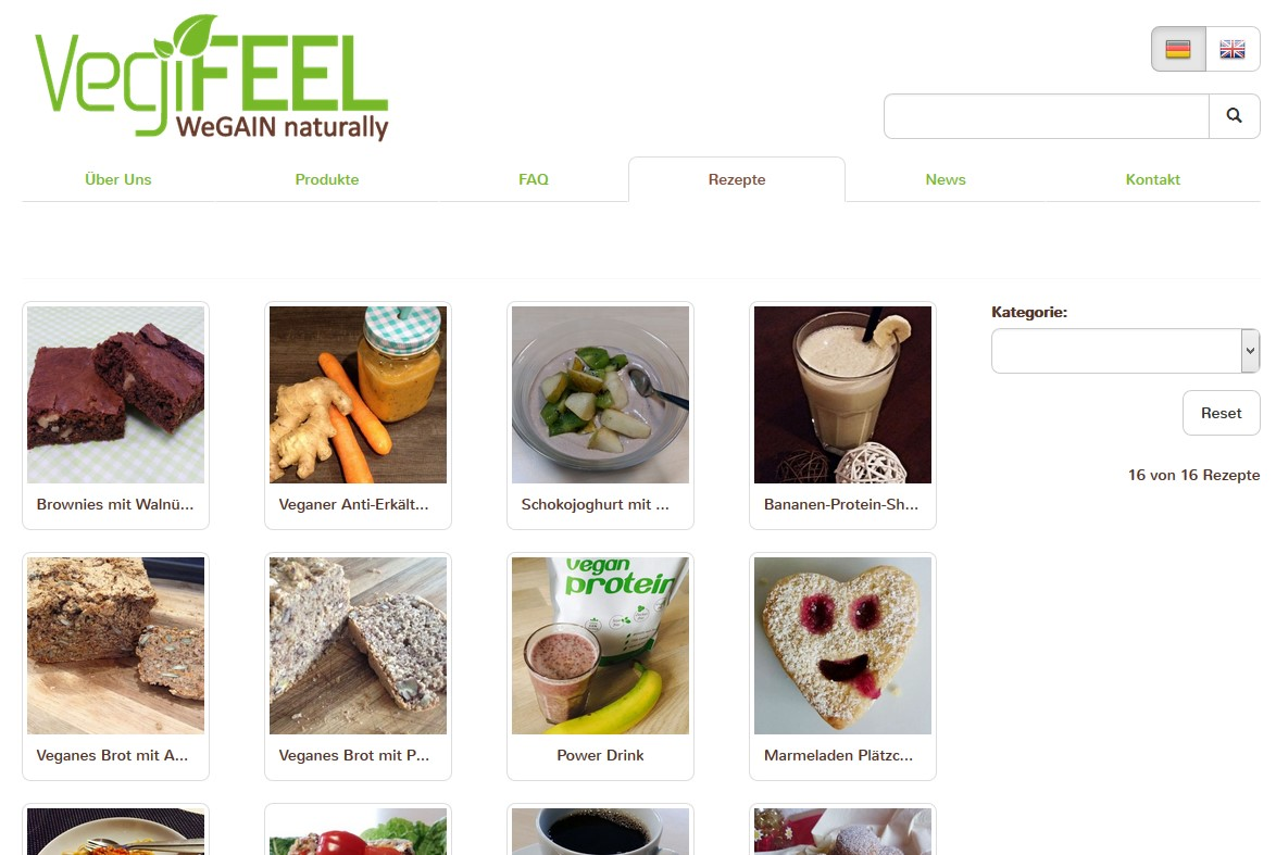 vegifeel-website-screenshot-rezepte